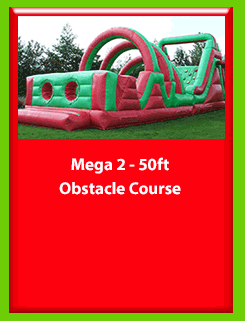 MEGA 2 50ft x 12ft Obstacle Course for Hire in Carrick-on-Shannon, Leitrim, Longford and Roscommmon in Ireland. Phone us on 0894258578 today to book this unit.