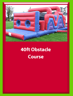 40 FOOT OBSTACLE COURSE for Hire in Carrick-on-Shannon, Leitrim, Longford and Roscommmon in Ireland. Phone us on 0894258578 today to book this unit.
