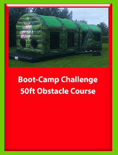Boot-Camp Challenge 50ft Obstacle Course for Hire in Carrick-on-Shannon, Leitrim, Longford and Roscommmon in Ireland. Phone us on 0894258578 today to book this unit.